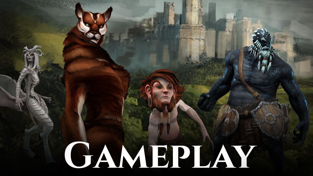 Pre-Pre Alpha Camelot Unchained Engine gameplay-1